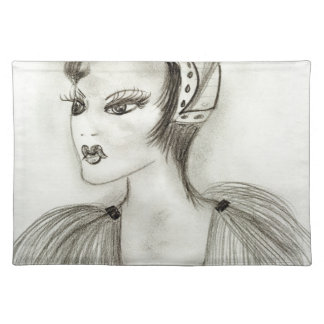 Flapper in Feathers Placemat