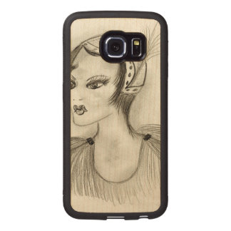 Flapper in Feathers Wood Phone Case