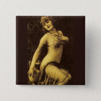 Flapper in Sepia 1 15 Cm Square Badge