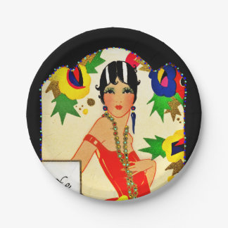Flapper Keeping Score Paper Plate