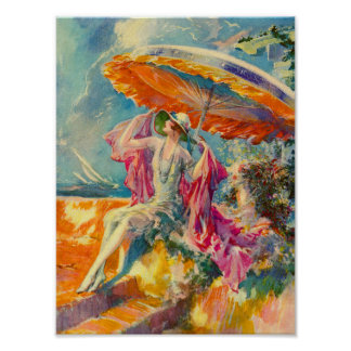 flapper on the beach poster