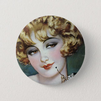 Flapper Painting 6 Cm Round Badge