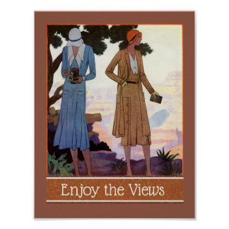 Flapper Photographer, Enjoy the View Poster