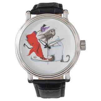 Flappers, Flyers, Licker of Eyes Art Wrist Watch