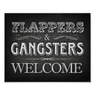 FLAPPERS GANGSTERS WELCOME Party Sign