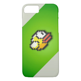 Flappy Bird - Toxic Green/Grey Background HD VI iPhone 7 Case