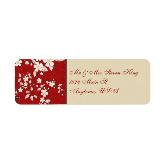 Flare of the Orient Return Address Label