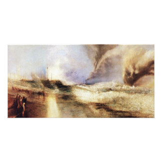 Flares In Heavy Seas By Turner Joseph Mallord Will Personalized Photo Card