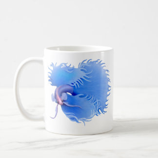 Flaring Blue Crowntail Betta Mug