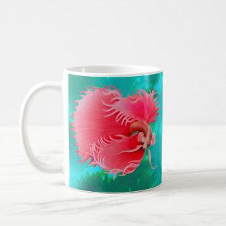 Flaring Red Crowntail Betta Mug
