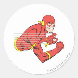 Flash Bust View Round Sticker