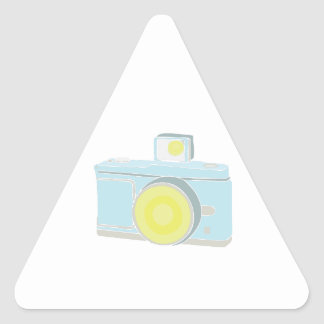 Flash Camera Triangle Stickers