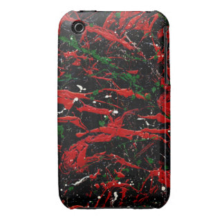 FLASH FIRE (an abstract art design) ~ iPhone 3 Case-Mate Cases