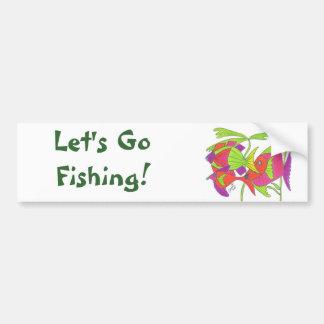 Flash Fish Car Bumper Sticker