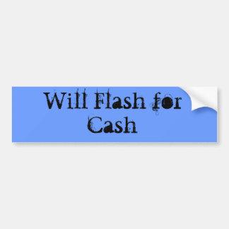 Flash for cash bumper sticker