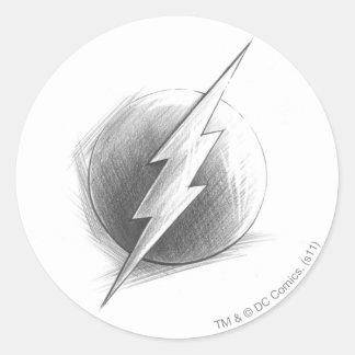 Flash Insignia Classic Round Sticker