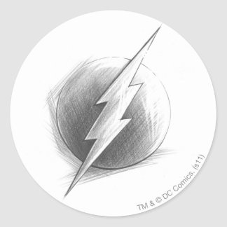 Flash Insignia Round Sticker