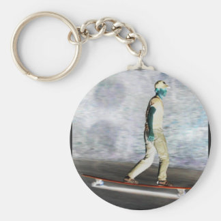 flash long board basic round button key ring