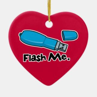 flash me flash drive design ceramic heart decoration