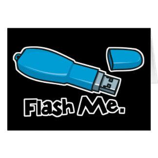 flash me flash drive design greeting card
