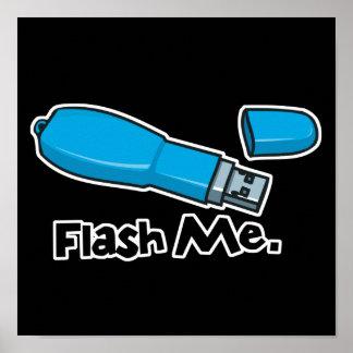 flash me flash drive design poster