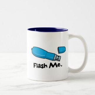 flash me flash drive design Two-Tone mug