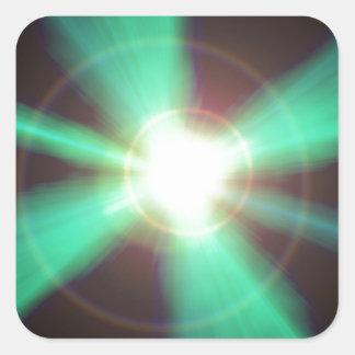 Flash of light square sticker