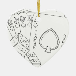 flash royal ceramic heart decoration