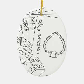 flash royal ceramic oval decoration