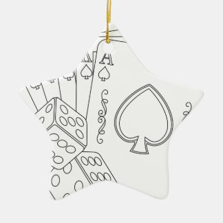 flash royal ceramic star decoration