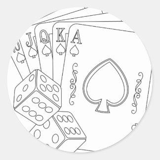 flash royal round sticker