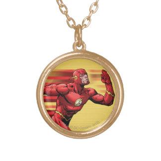 Flash Running Round Pendant Necklace