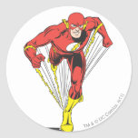 Flash Runs Forward Round Sticker