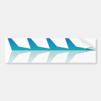 Flash - V - Aqua Car Bumper Sticker