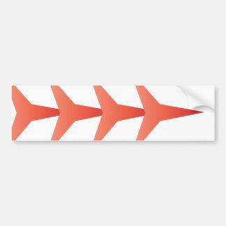 Flash - V - Red Car Bumper Sticker