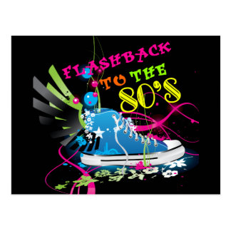 Flashback To The 80 s Neon Sneaker Postcard