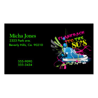 Flashback To The 80's Neon Sneaker Double-Sided Standard Business Cards (Pack Of 100)