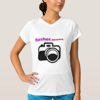 'Flasher Beware' Funny Photography T-Shirt