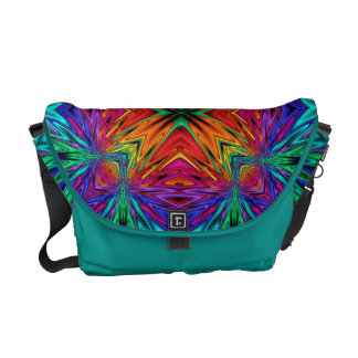 Flashing Fractals No 1 Messenger Bag