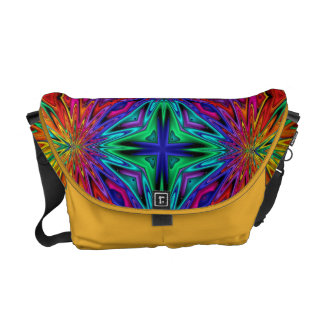 Flashing Fractals No 2 Messenger Bag