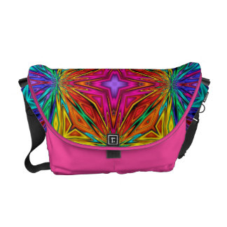 Flashing Fractals No 3 Messenger Bag