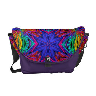 Flashing Fractals No 4 Messenger Bag