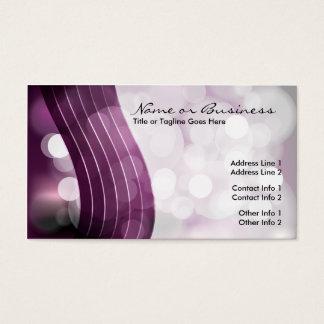 flashing lights business card