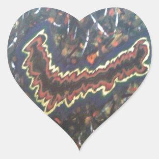 Flashing Lights Heart Sticker