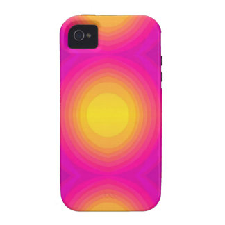 Flashy 70s,pink vibe iPhone 4 cover