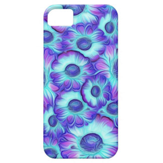 Flashy blue Flowers iPhone 5 Cases