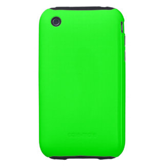 Flashy Bright Neon Green Accent Color iPhone 3 Tough Case