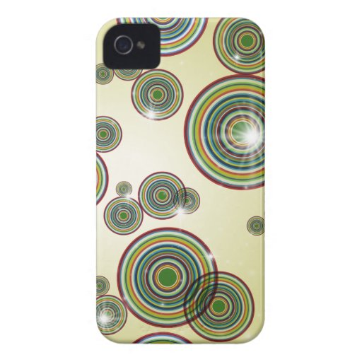 Flashy Color Circles iPhone Case Case-Mate iPhone 4 Cases