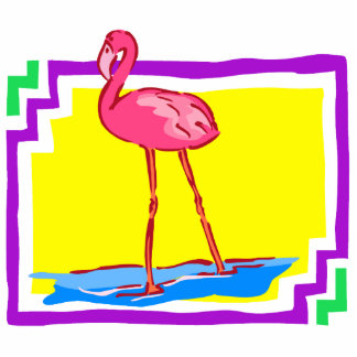 Flashy Flamingo Standing Photo Sculpture