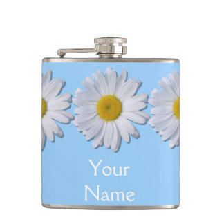 Flask - New Daisy on Blue